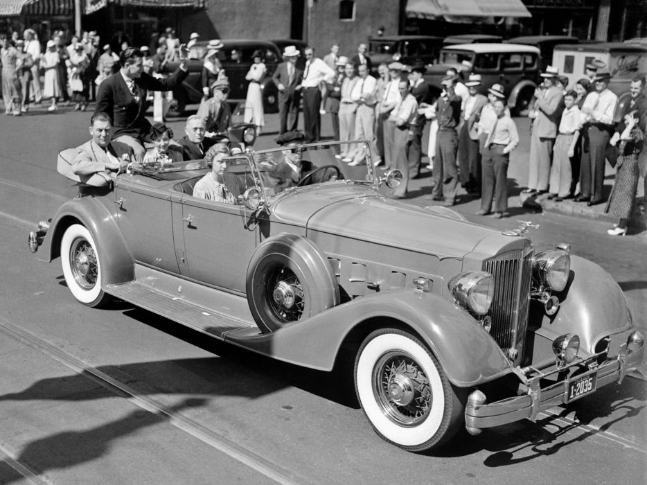 1934 Packard Eight Dual Cowl Sport Phaeton (1101-721) convertible limosuine retro    f wallpaper
