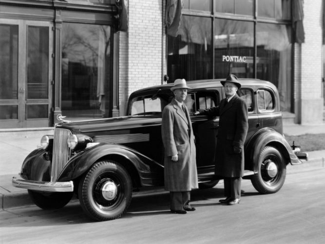 1934 Pontiac Eight Series 603 4-door Sedan (34309) retro j wallpaper