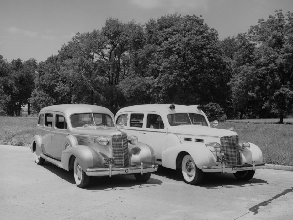 1937 Meteor Cadillac V-8 Series-38-75 Ambulance emergency stationwagon retro 1938  h wallpaper