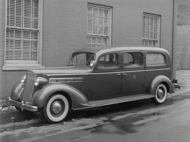1937 Packard 120 Ambulance Miller (158-CA) emergency stationwagon retro h wallpaper