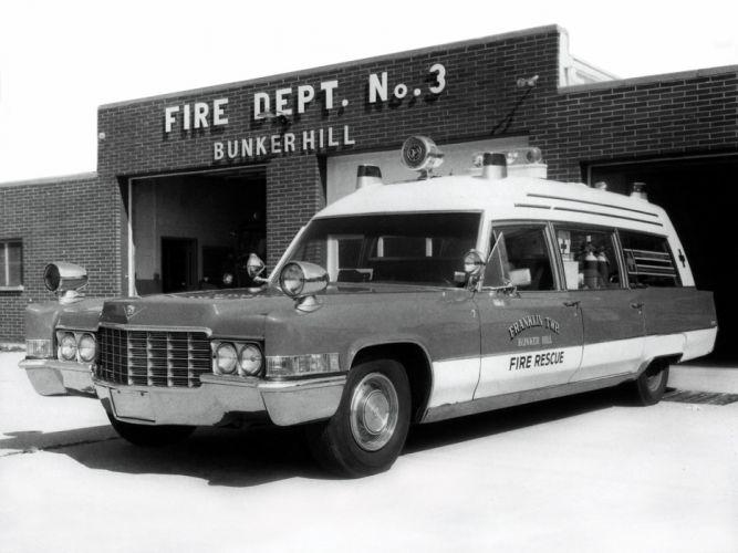 1969 Miller Meteor Cadillac Classic-48 Ambulance (69890Z) emergency retro stationwagon f wallpaper