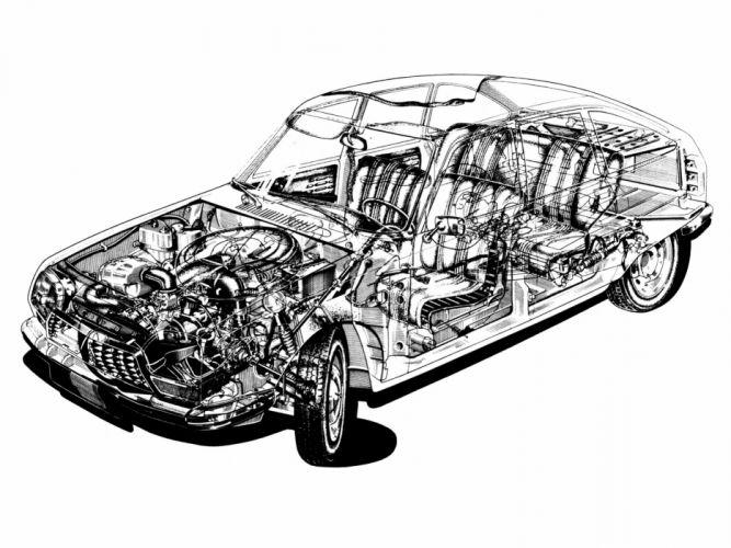 1970 Citroen G-S interior engine h wallpaper