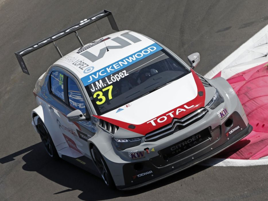 2014 Citroen C-Elysee WTCC race racing e wallpaper