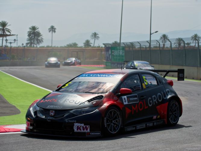 2014 Honda Civic WTCC race racing h wallpaper
