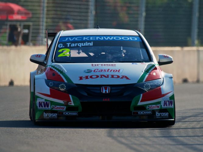 2014 Honda Civic WTCC race racing u wallpaper