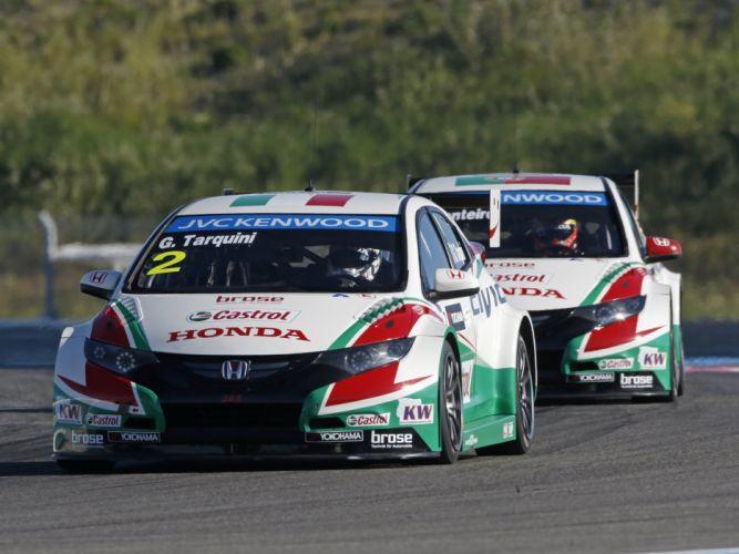 2014 Honda Civic WTCC race racing y wallpaper