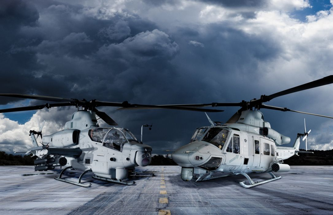 AH-1Z helicopter military aircraft (6) wallpaper