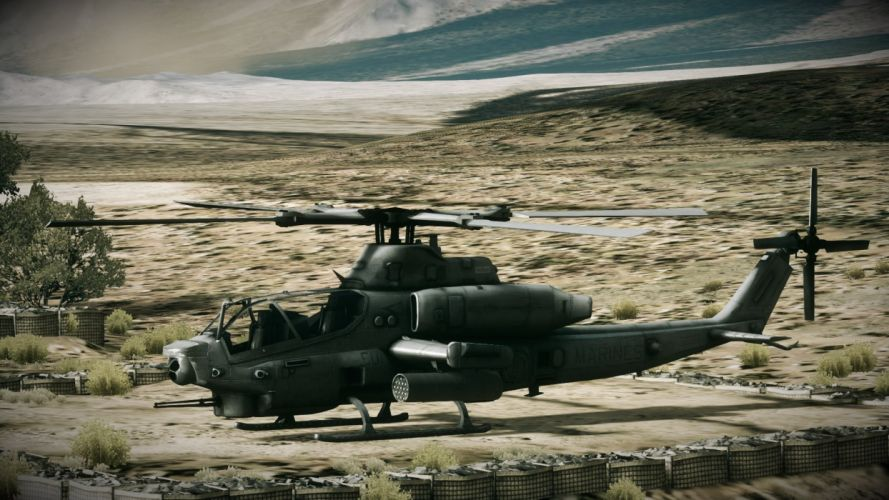 AH-1Z helicopter military aircraft (2) wallpaper