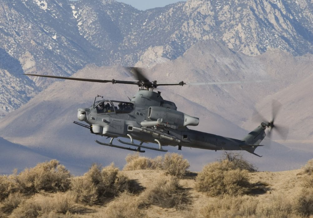AH-1Z helicopter military aircraft (17) wallpaper