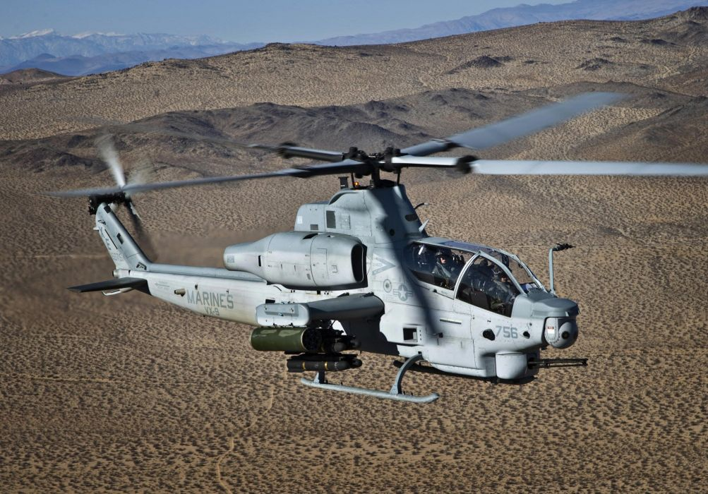 AH-1Z helicopter military aircraft (31) wallpaper