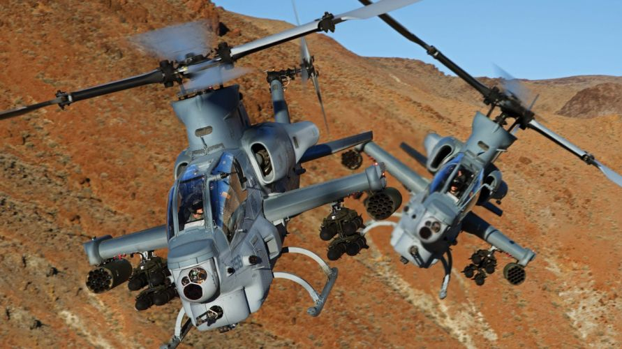 AH-1Z helicopter military aircraft (28) wallpaper