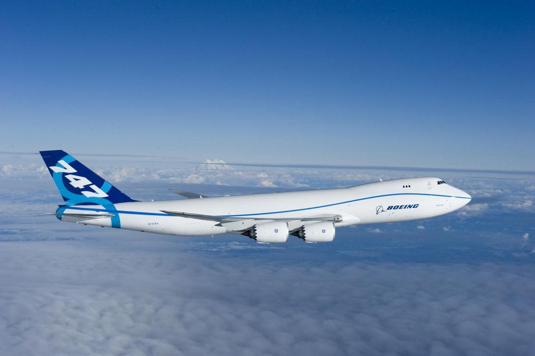 BOEING 747 airliner aircraft plane airplane boeing-747 transport (5) wallpaper