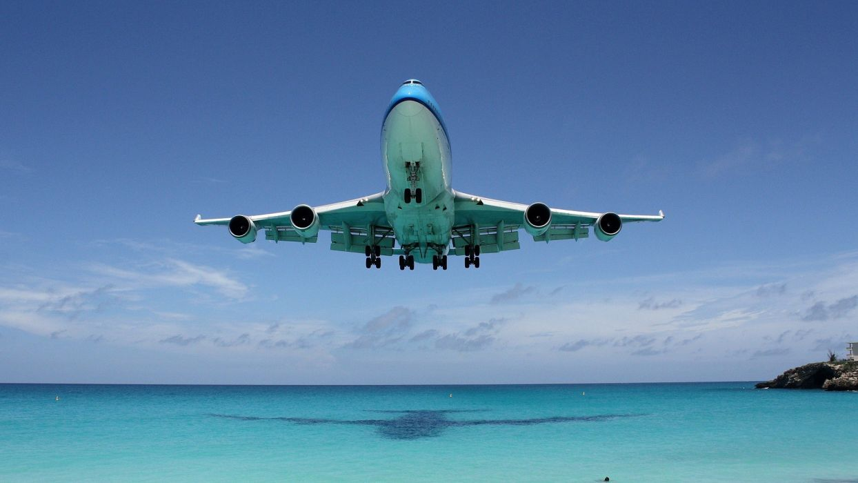 BOEING 747 airliner aircraft plane airplane boeing-747 transport (3) wallpaper