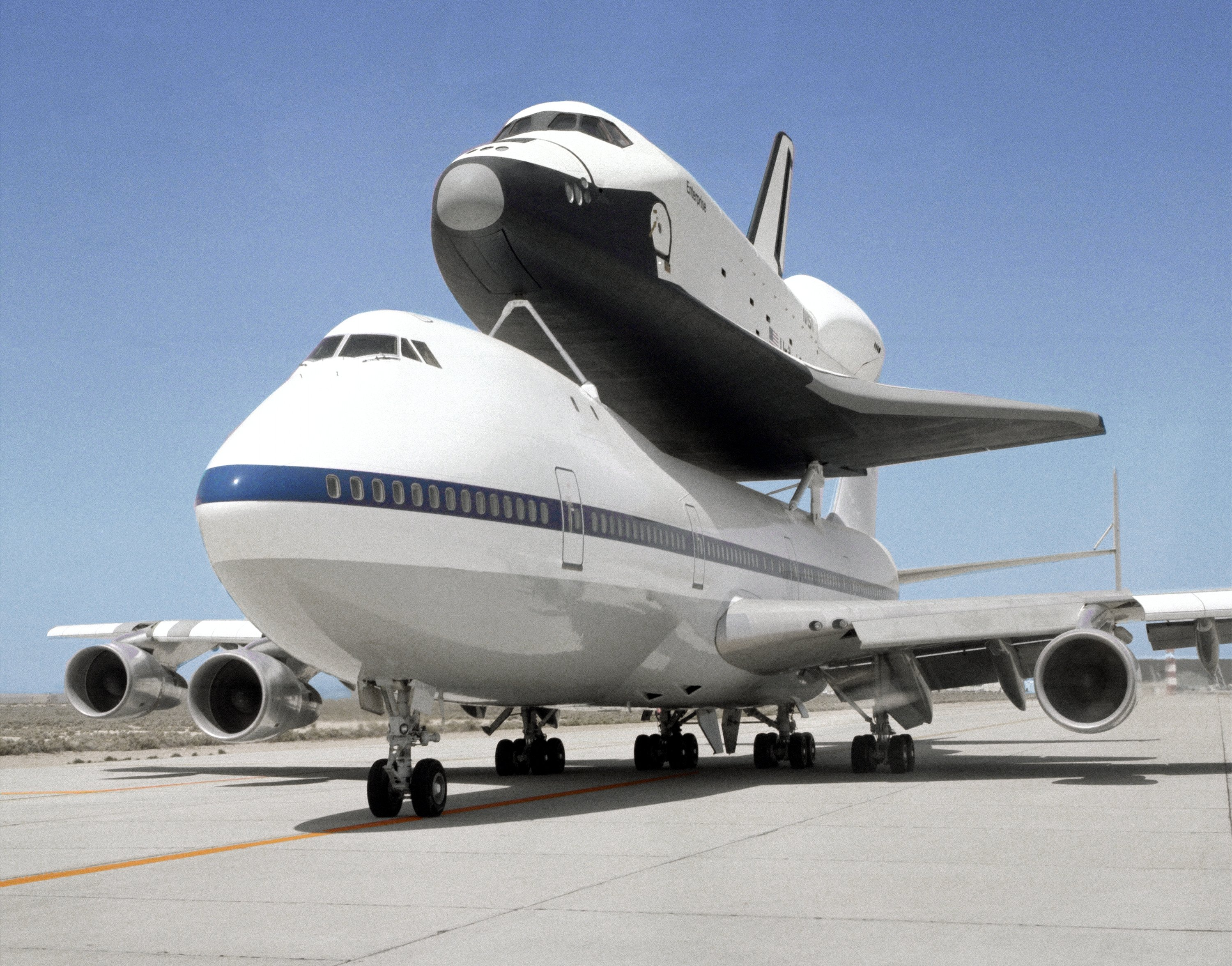 boeing 747 airliner aircraft plane airplane boeing-747 nasa space