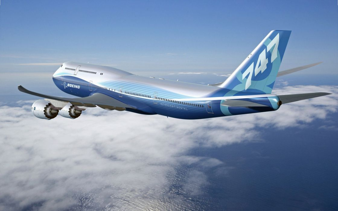 BOEING 747 airliner aircraft plane airplane boeing-747 transport (10) wallpaper