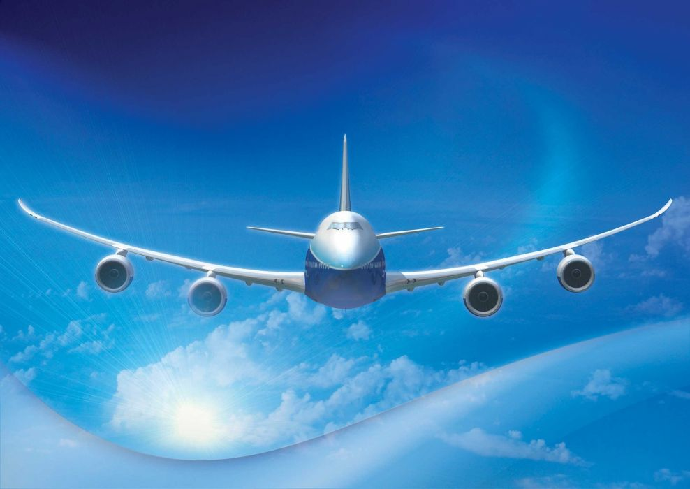 BOEING 747 airliner aircraft plane airplane boeing-747 transport (33) wallpaper