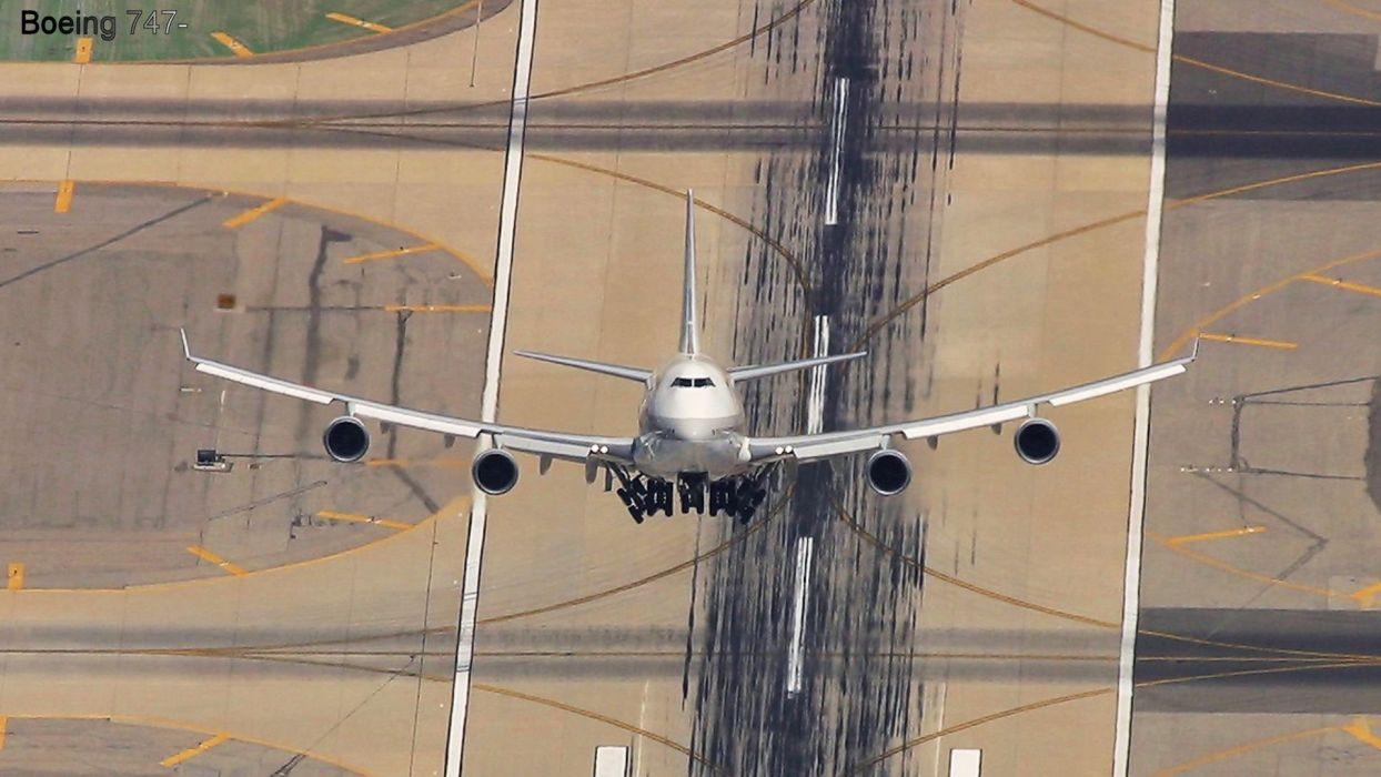 BOEING 747 airliner aircraft plane airplane boeing-747 transport (43) wallpaper