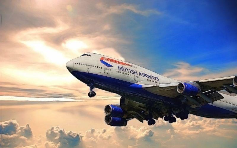 BOEING 747 airliner aircraft plane airplane boeing-747 transport et wallpaper