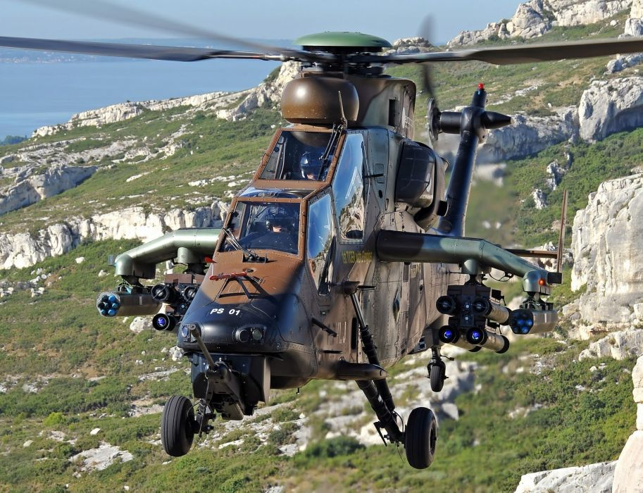 EUROCOPTER TIGER attack helicopter aircraft (52) wallpaper