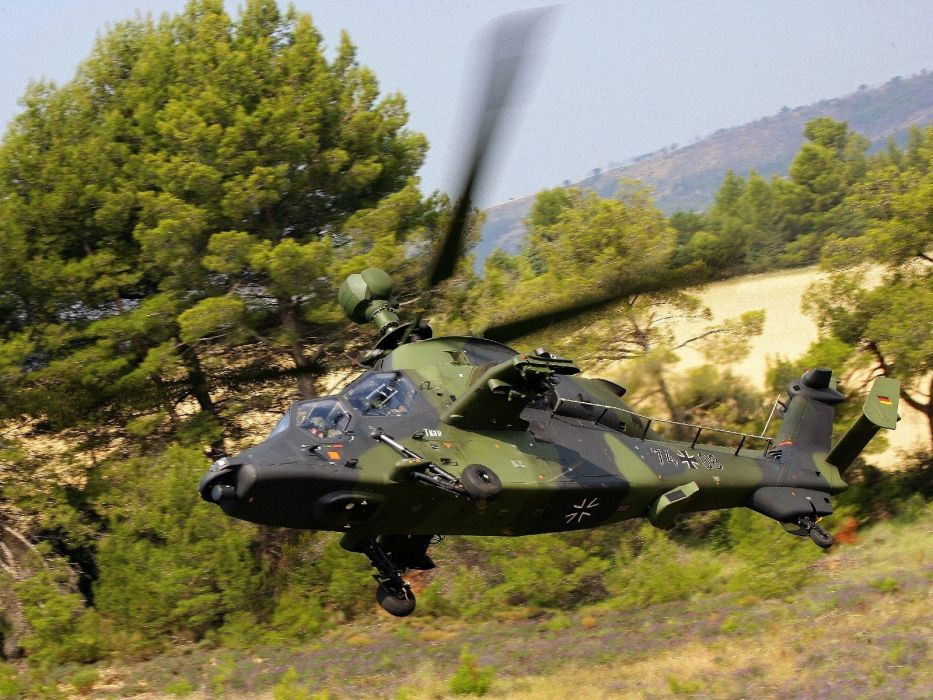 EUROCOPTER TIGER attack helicopter aircraft (44) wallpaper
