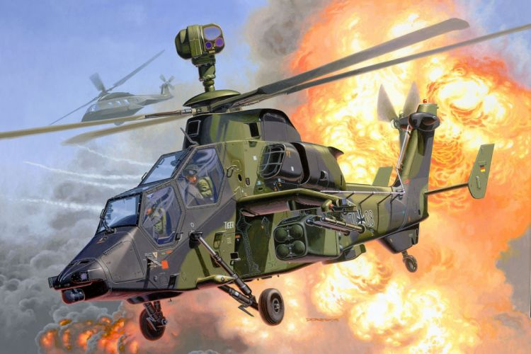 EUROCOPTER TIGER attack helicopter aircraft (41) wallpaper