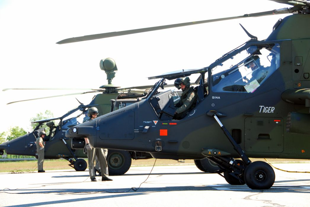 EUROCOPTER TIGER attack helicopter aircraft (35) wallpaper