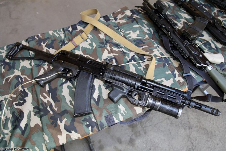 Russia army troops special-forces military russian firearms OSN-Saturn 5_45x39 assault rifle AEK-971 with GP-25 2 wallpaper