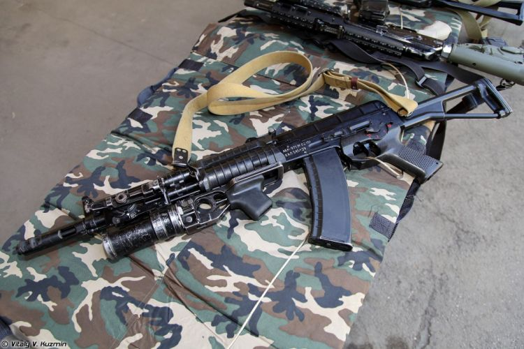 Russia army troops special-forces military russian firearms OSN-Saturn 5_45x39 assault rifle AEK-971 with GP-25 wallpaper