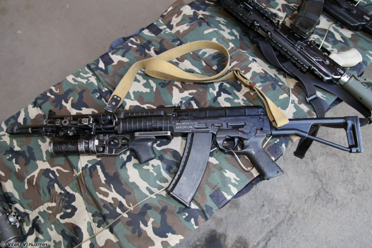 Russia army troops special-forces military russian firearms OSN-Saturn 5_45x39 assault rifle AEK-971 with GP-25 4 wallpaper