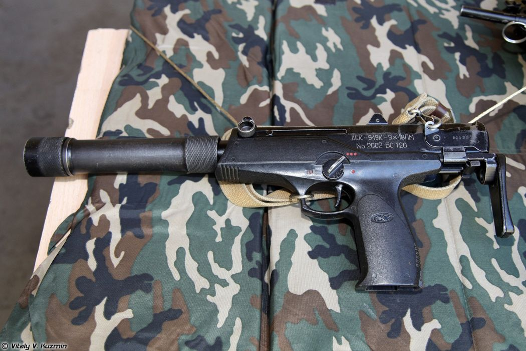 Russia army troops special-forces military russian firearms OSN-Saturn 9x18 submachine gun AEK-919K Kashtan 3 wallpaper