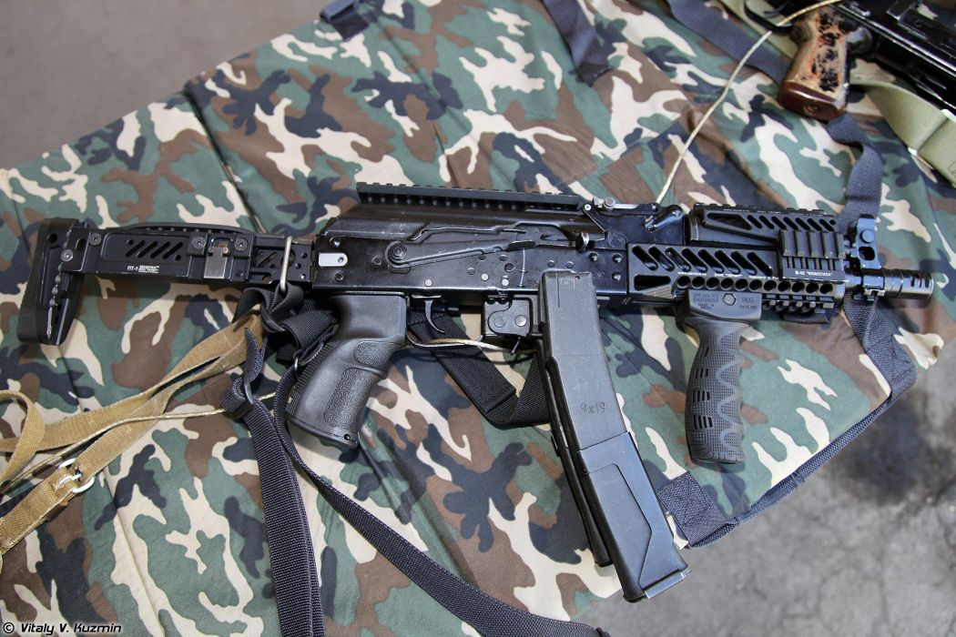 Russia army troops special-forces military russian firearms OSN-Saturn 9x19 submachine gun PP-19-01 Vityaz-SN 3 wallpaper