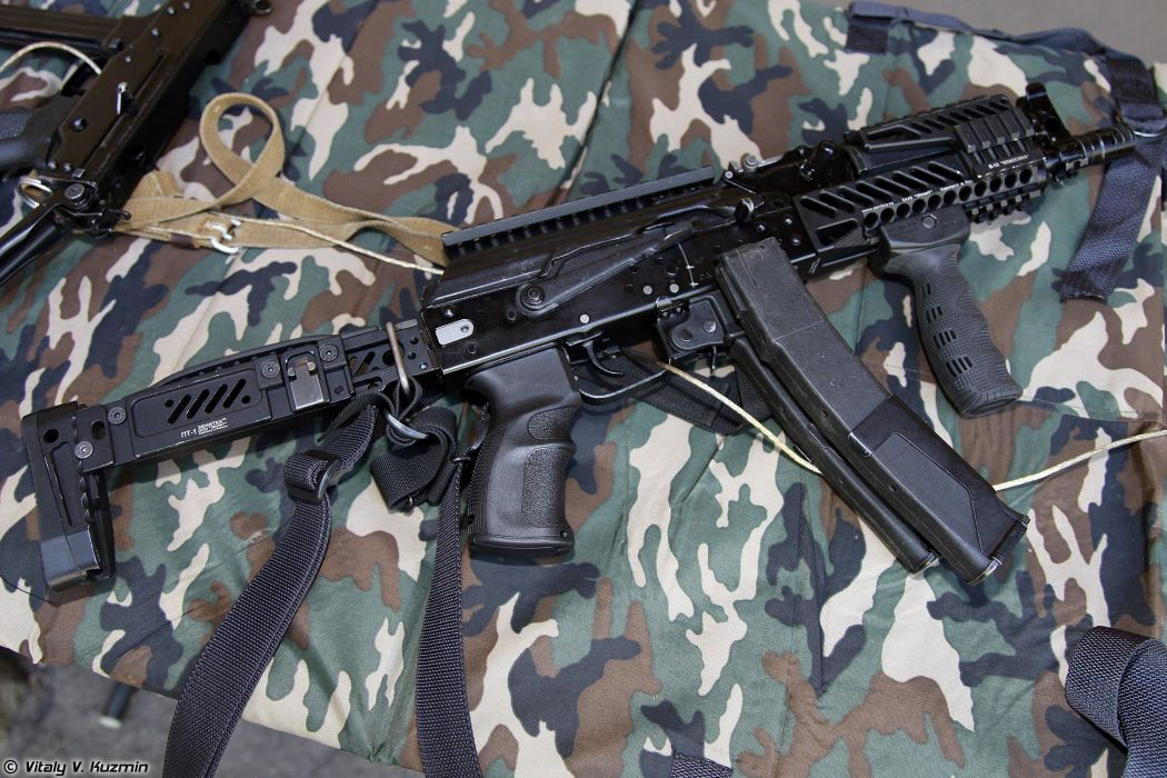 Russia army troops special-forces military russian firearms OSN-Saturn 9x19 submachine gun PP-19-01 Vityaz-SN 2 wallpaper