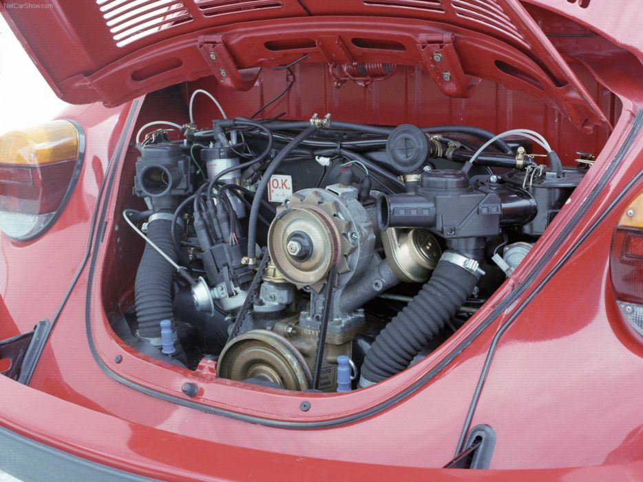 volkswagem beetle car classic retro popular red engine wallpaper
