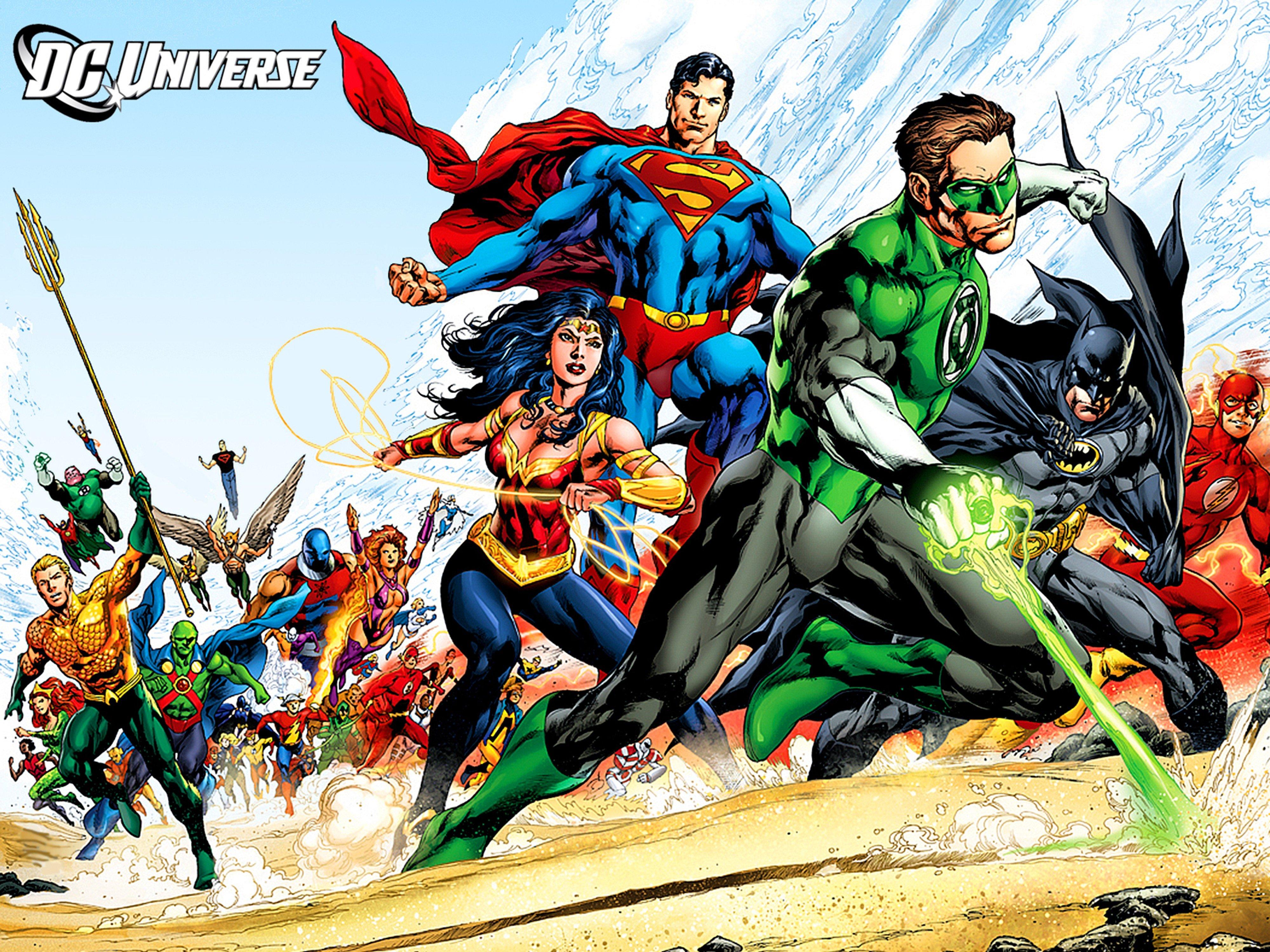 Dc Comics Justice League Superheroes Wallpaper