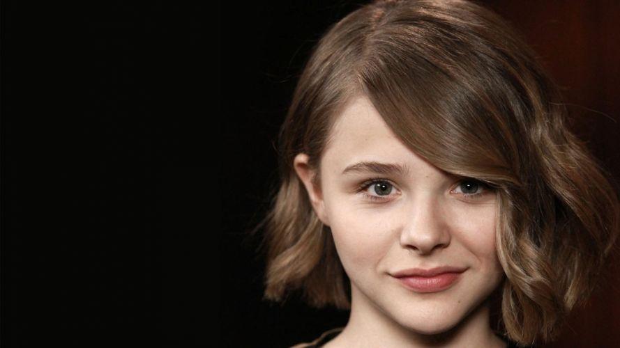 brunettes women actress teen Chloe Moretz faces wallpaper