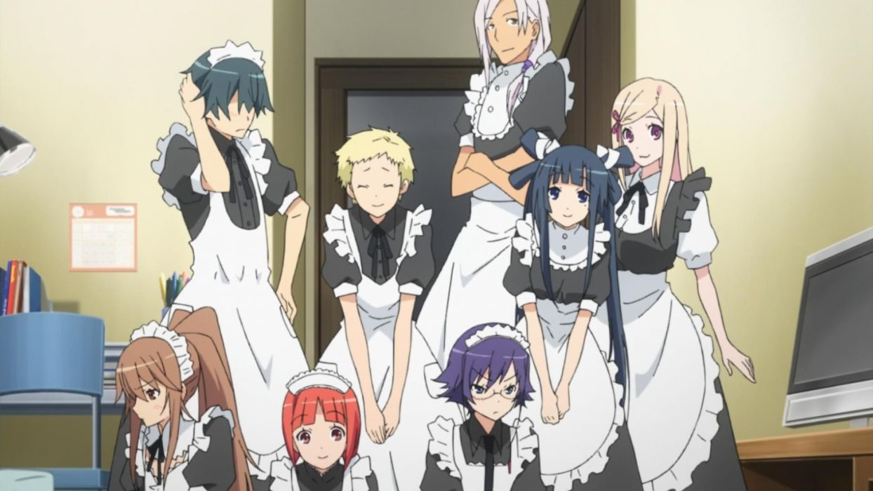 screenshots anime maid costumes wallpaper