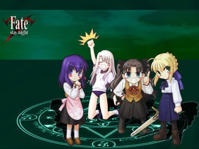 Fate/Stay Night Tohsaka Rin Saber Matou Sakura Fate series Illyasviel von Einzbern wallpaper