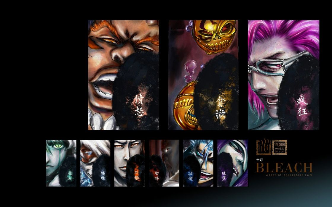 Bleach Espada Nnoitra Gilga Grimmjow Jaegerjaquez Zommari Leroux Szayel Aporro Granz Yammy Coyote Stark Tier Harribel Ulquiorra Cifer Aaroniero Arruruerie wallpaper