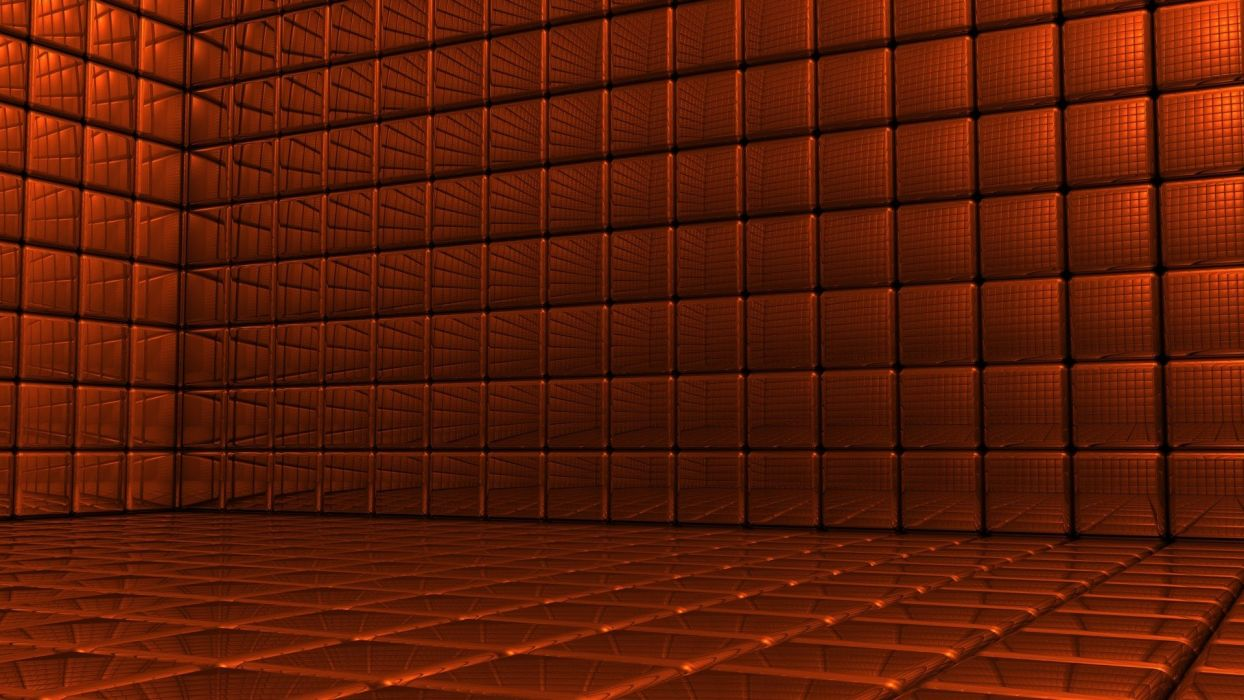orange 3D renders wallpaper