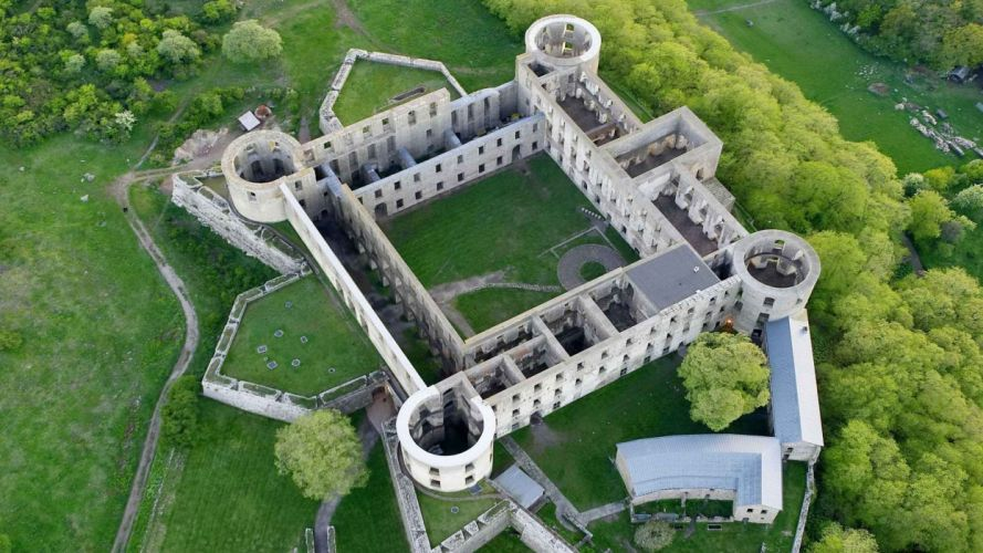 ruins architecture Sweden castle wallpaper