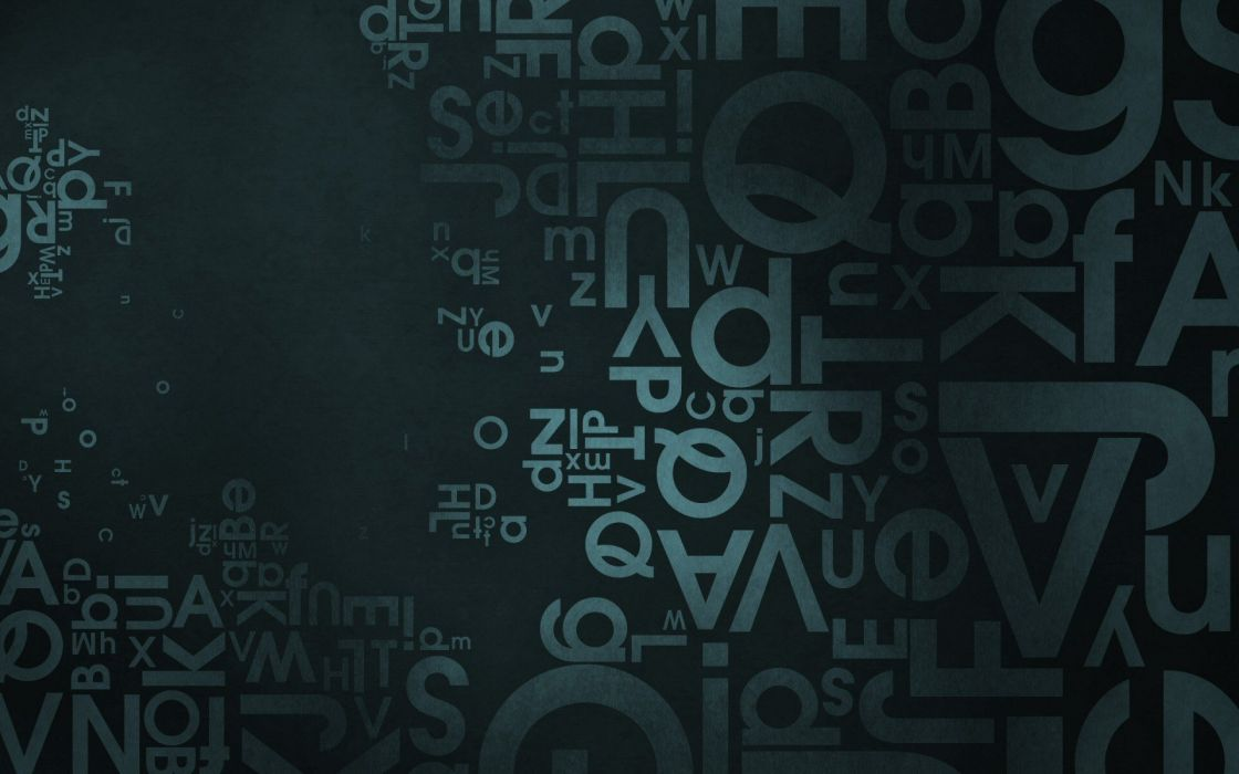 abstract typography wallpaper
