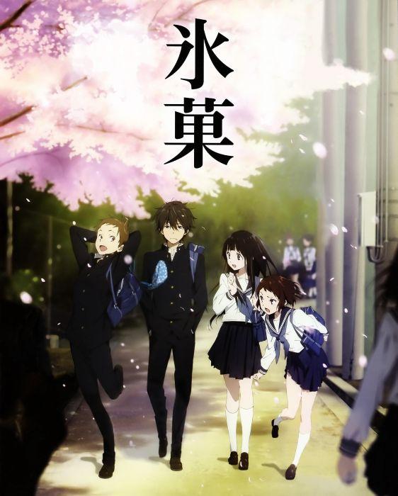 anime Hyouka Chitanda Eru Oreki Houtarou wallpaper