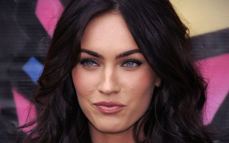 brunettes women close-up Megan Fox actress celebrity faces wallpaper