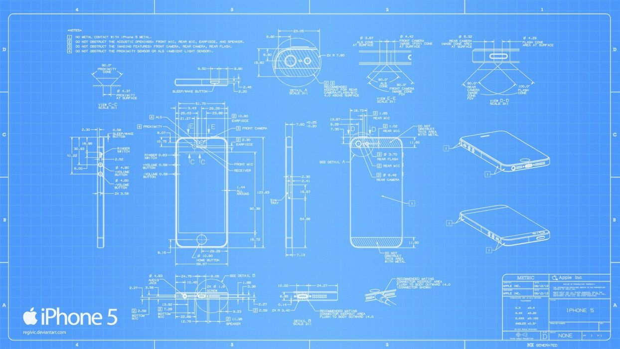 Deviantart Blueprints Iphone 5 Wallpaper 1920x1080