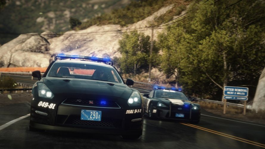 video games cars police cars Nissan GT-R Lexus LF-A Need For Speed Rivals wallpaper