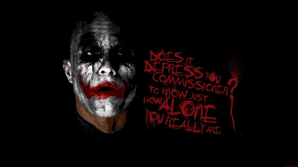 Batman The Joker typography Heath Ledger The Dark Knight black background wallpaper