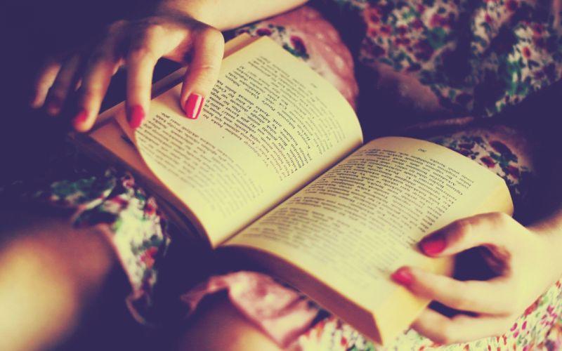 women dress reading books Turkish nail polish wallpaper