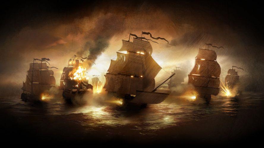 ships battles Total War vehicles Empire: Total War sea wallpaper