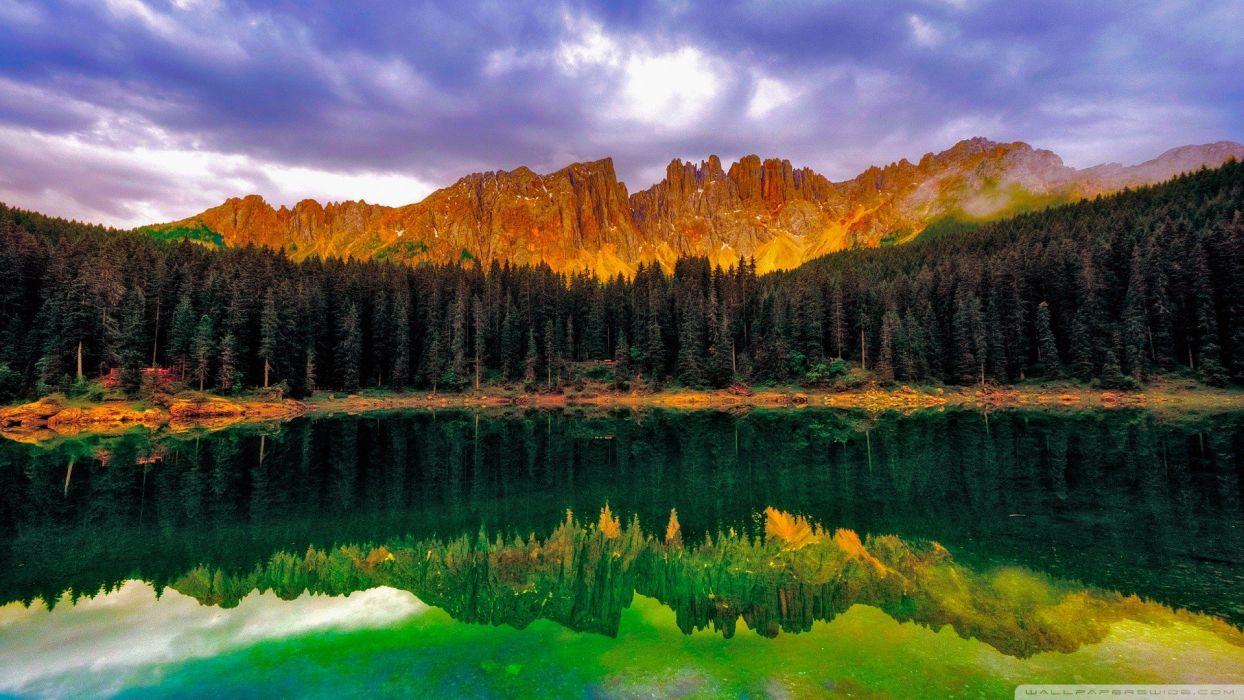 nature dreamscape Emerald reflections wallpaper