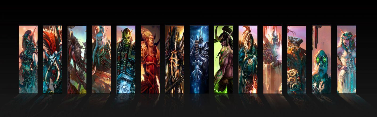 World of Warcraft Lich King deathwing thrall Sylvanas Windrunner vol'jin cairne bloodhoof wallpaper
